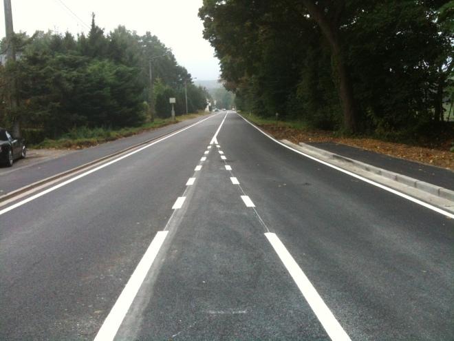 La chaussée de Louvain renouvellée