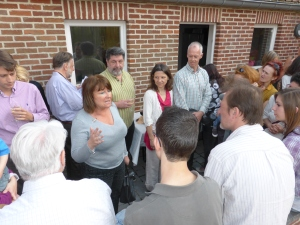 Carole Ghiot, échevine, accueillait les visiteurs de l'exposition