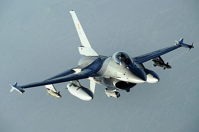 Un F16 belge en patrouille en Afghanistan