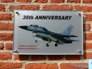 La plaque au musée du 1e Wing