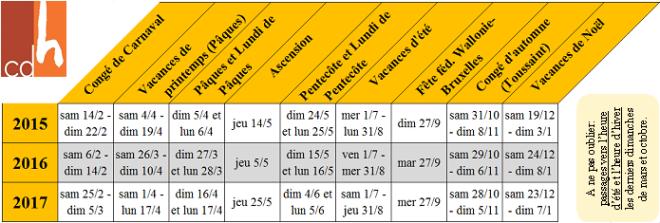 calendrier annee