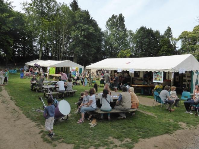 Les stands lors des Balades en Fête 2015