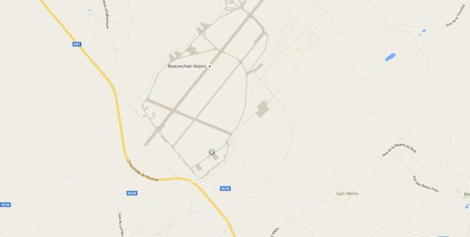 Vue sur Google Maps. L'endroit du photographe des Marchetti est indiqué