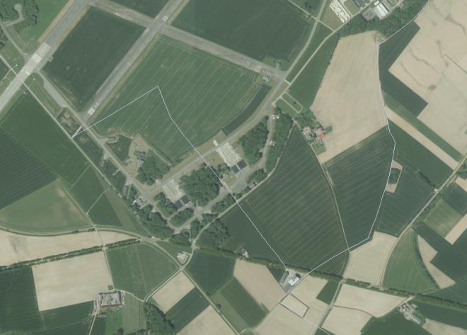 Détail du GeoPortail: en gris sont indiqués la frontière de l'actuel commune de Beauvechain