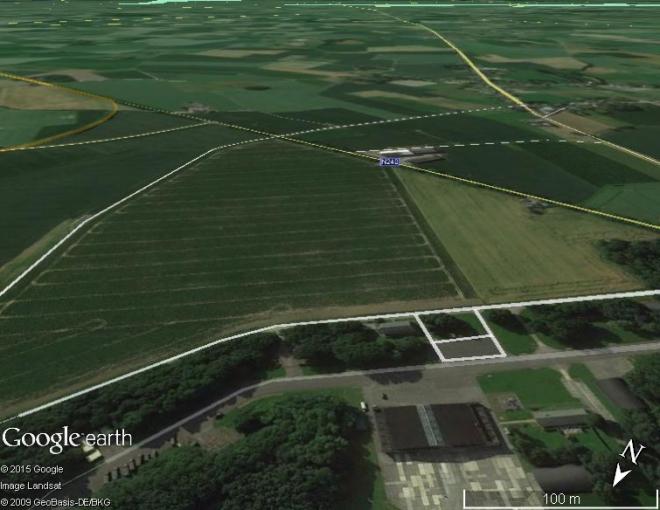 La même vue sur Google Earth
