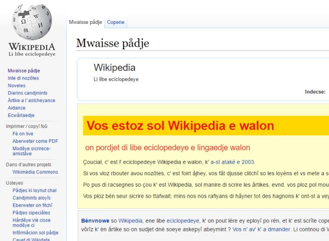 wikipedia wallon