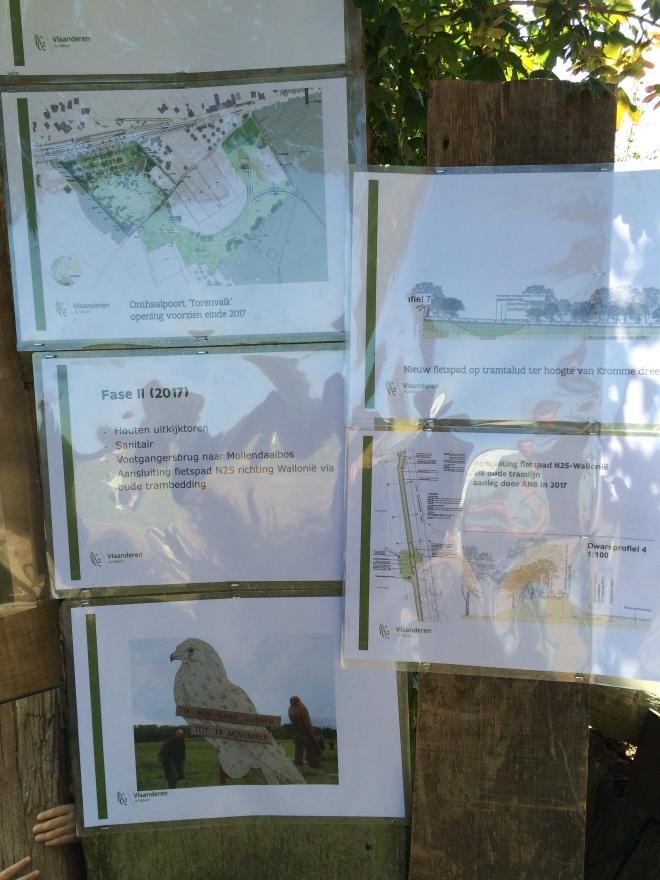 Les plans comme exposé lors du Forestival - Feest in het Bos