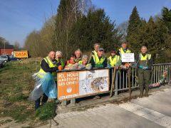 l'équipe AEB au Néthen à Hamme-Mille